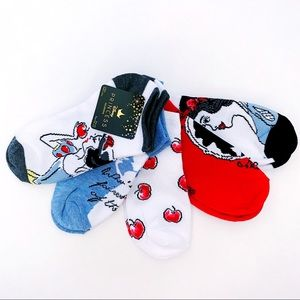 🆕 Disney Princess Snow White Ankle Socks 5 Pairs